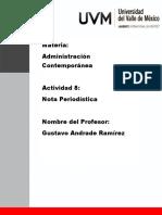 Adminitracion Nota Periodistica