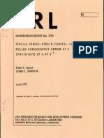 MEMORANDUM REPORT NO. 2760
