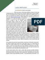 Adriana Cranco - Porqué Beber Agua Destilada
