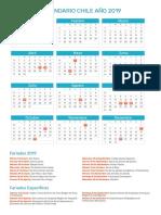 Calendario Chile 2019