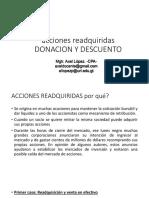 Readquiscion de Acciones, Donacion, Descuento