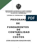 Programa de Fundamentos de Contabilidad de Costos (Con-223)