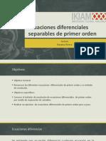 Ecuaciones Diferenciales Separables de Primer Orden