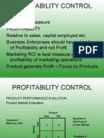 Profitability Control