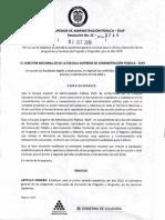 Resolución 3749 Calendario Academico 2019