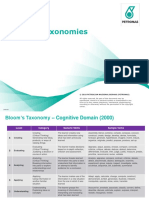 Blooms Taxonomies - Arevieq