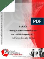 Manual Curso Tribología Lubricación Industrial