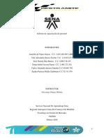 Informe Capacitacion Del Personal