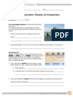 Density Comparisons e
