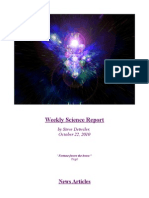 Weekly Science Report - October 22, 2010 by Steve Detwiler
