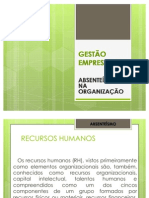 GESTÃO EMPRESARIAL-ABSETEÍSMO