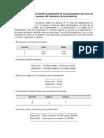 CASO 7-4 Diseño Formato y Preparación Pptos Costo Mtls, Compras, Inv y de La Producción
