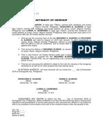 Catipay- Affidavit of Heirship