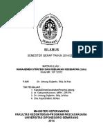 Silabus Manajemen Strategis Dan Kebijakan Kesehatan - Copy