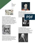 Cientificos y Artistas Del Mundo