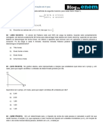 Álgebra Funções de 1º Grau