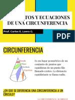 Elementos y Ecuaciones de Una Circunferencia