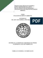 Informe de Comision de Prensa