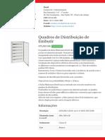 Quadros de Distribuição de Embutir - PLA0316E
