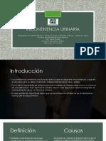 Incontinencia urinaria PPT