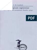 Cornford Francis Macdonald Principium Sapientiae
