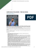 Super Dicas Atualidades – Tire Sua Dúvida