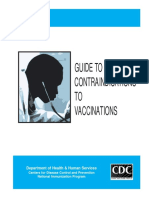 Guide Contra Indication for Vaccination