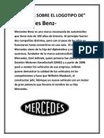 HISTORIA SOBRE EL LOGOTIPO DE MERSEDES BENZ.docx