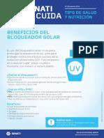 Boletín STC N°30 -  Febrero - Beneficios del Bloqueador Solar
