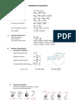 SUMMARY OF EQUATIONS.doc