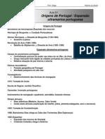 História - CASD - Aula01 Origens de Portugal Expansão ultramarina portuguesa