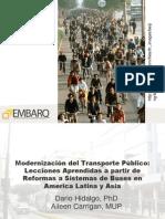 Modernización del Transporte Público - Dario Hidalgo