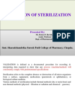 Validation of Sterilization -KDB