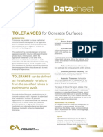 Data Sheet Tolerance for Concrete Surfaces