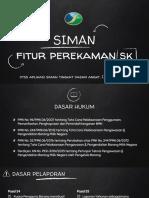 SIMAN Fitur Perekaman Sk. Dtss Aplikasi Siman Tingkat Dasar Angkt. I Tahun 2016