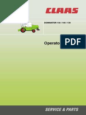 Claas Dominator 76 Spare Parts Catalogue Original Manual PDF catalog