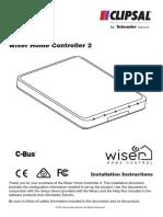 Clipsal C Bus Wiser2 5200WHC2 Installation Manual