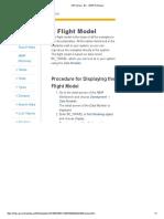 Flight Models