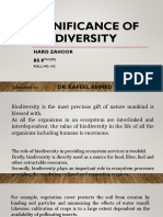 Significance of Biodiversity