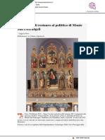 Intervento di restauro al Polittico di Monte San Pietrangeli - Il Mascalzone.it, 20 febbraio 2019