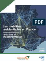 Rapport Du CGET Sur Les Mobilités Résidentielles