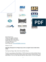 Letter to LA County Board of Supervisors