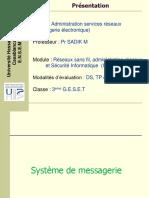 Admin Services Réseaux (Partie 2- Messagerie)