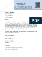 Letter Sorry