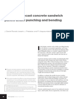 Insulated Precast Concrete Sandwich Panels Under Punching and Bending