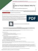 Process Verification Vs