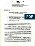 Sop on Policy for the Transfer of Arrested Persons Outside Territorial Area