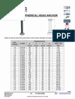 Ps48 Spherical Head Anchor