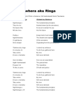 Tūwhera aku Ringa (lyrics) Ngati Kaiwhakawa