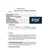 Formato de Informe Pericial Y TALLERES